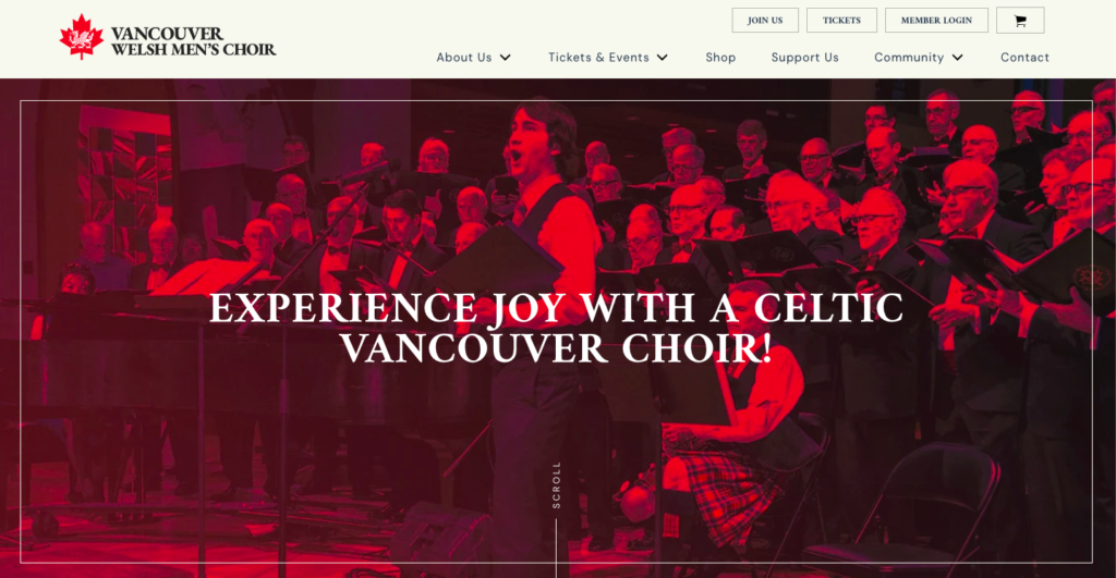 Choir Website Redesign