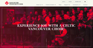 Vancouver Welsh Men's Choir Website Redesign